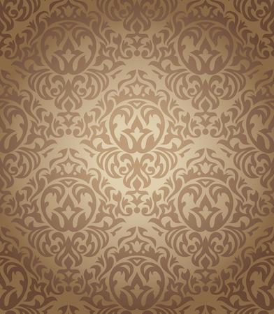 abstract seamless damask wallpaper vector illustration Stock Vector - 8505298