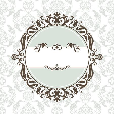 circle frame: abstract cute decorative vintage frame   illustration Illustration