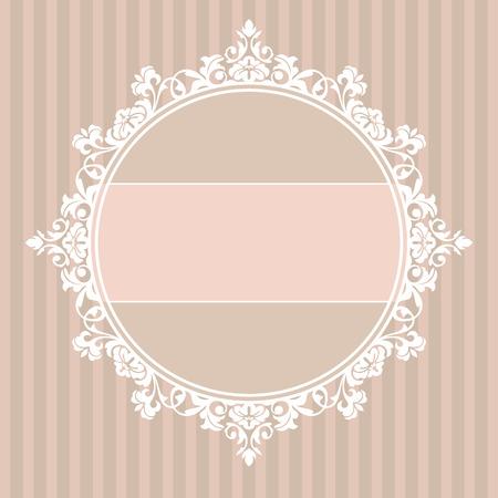 invitacion boda vintage: Resumen de la ilustraci�n lindo marco decorativo de cosecha
