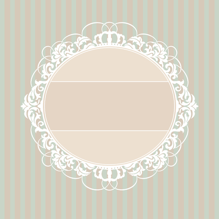 abstract cute decorative vintage frame  illustration Stock Vector - 8756464