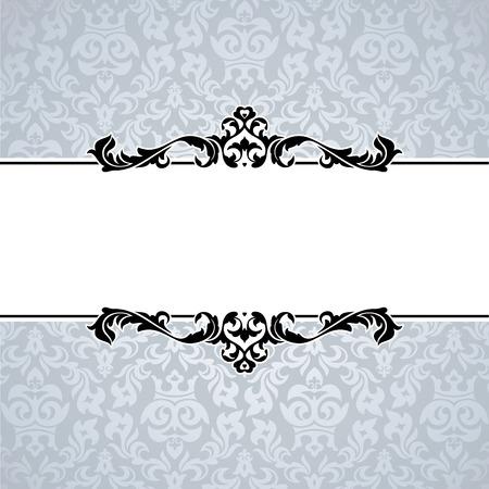 invitation card design: abstract cute decorative vintage frame   illustration Illustration