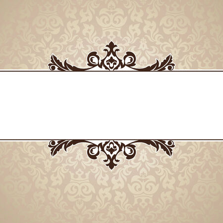 marriage ceremony: abstract cute decorative vintage frame   illustration Illustration