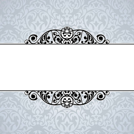 elegant: abstract cute decorative vintage frame  illustration