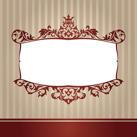 abstract cute decorative vintage frame  illustration Vector