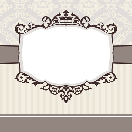wedding frame: abstract cute decorative vintage frame   illustration Illustration