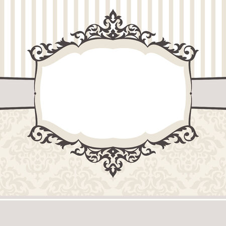 abstract cute decorative vintage frame  illustration Stock Vector - 8756479
