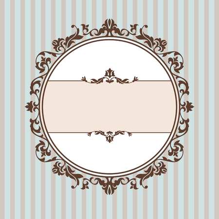 abstract cute decorative vintage frame   illustration