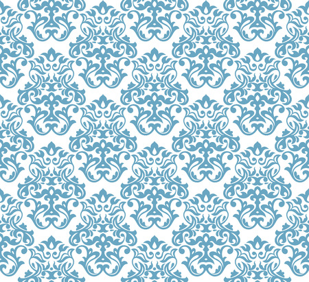 abstract seamless damask background wallpaper vector illustration Vector