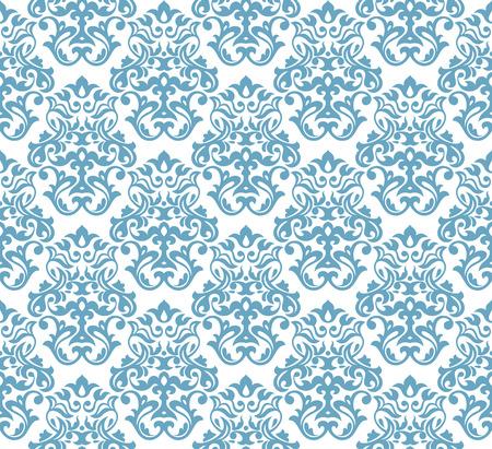 seamless damask: Ilustraci�n de vector de wallpaper abstracto fondo transparente de Damasco