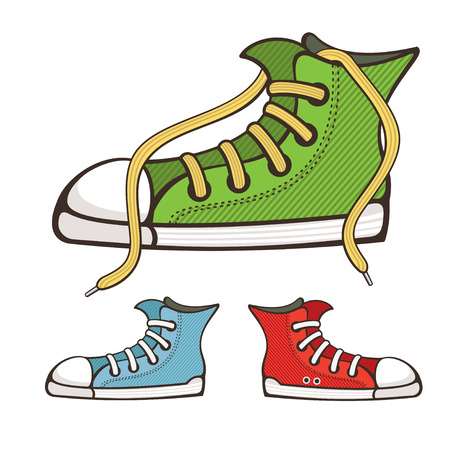 vector sneakers isolated on white background Иллюстрация