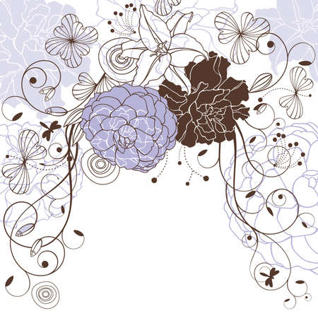 encantador: abstract cute lovely floral background vector illustration