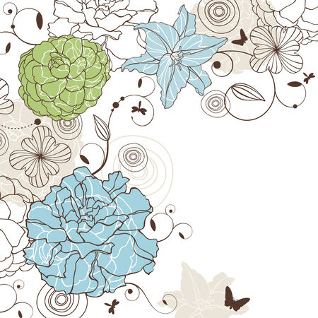 abstract cute lovely floral background vector illustration Stock Vector - 8994624