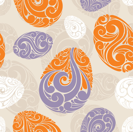 design floral: abstract seamless background with eggs vector illustration