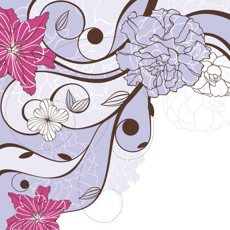 abstract cute lovely floral background vector illustration Vector