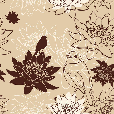 abstract cute seamless floral background illustration Vector
