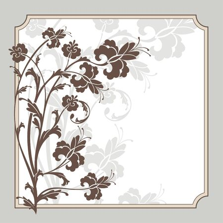 abstract cute lovely floral frame vector illustration Stock Vector - 9186276