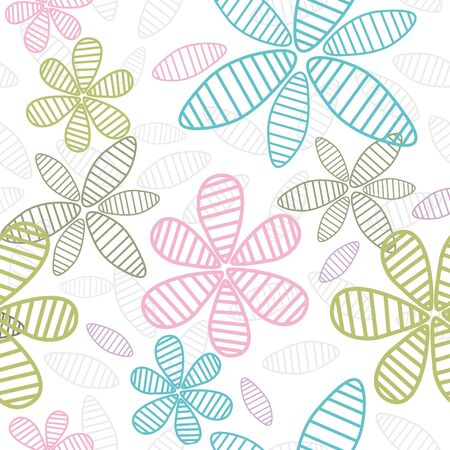 abstract cute seamless floral background vector illustration