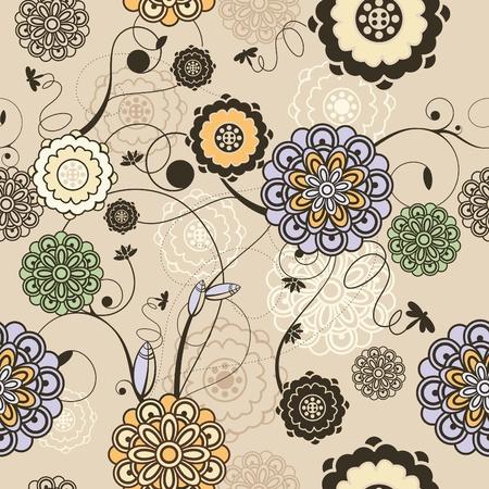 illustrazione vettoriale astratto carino seamless floral background
