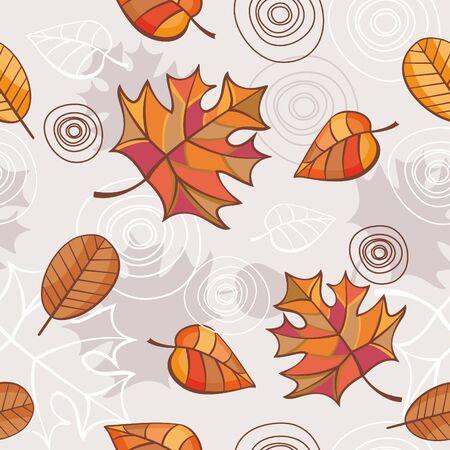 illustration de vecteur de fond floral seamless automne abstraite