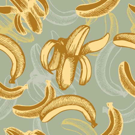banana: abstract vector seamless retro background with banana
