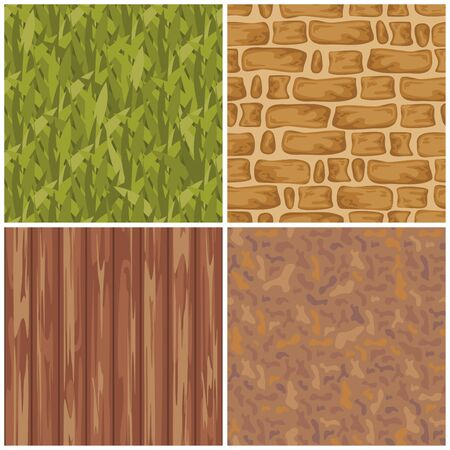 abstract set of seamless textures  Vector
