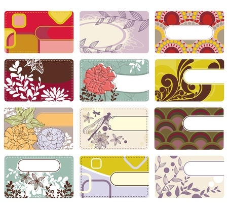 abstract cute vector set of business card Vector