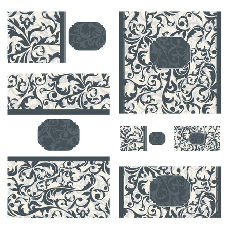 abstract set of various ornate vector frames Stock Vector - 9609596
