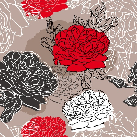 abstract lovely seamless floral pattern illustration