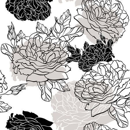 botanic: abstract lovely seamless floral pattern