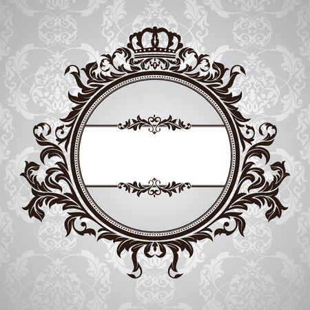 abstract royal vintage floral frame  Vector