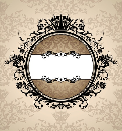 abstract royal artistic vintage frame illustration Vector