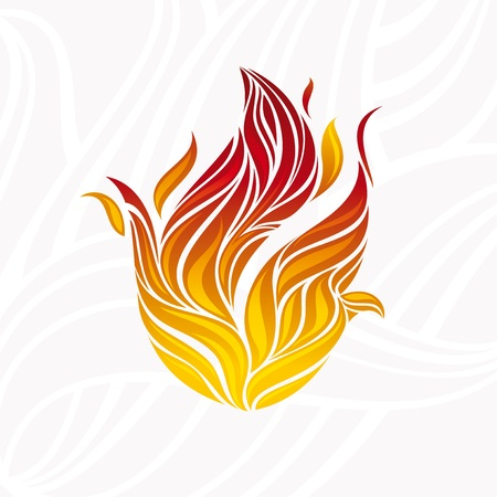 ignite: abstract artistic fire flame card illustration
