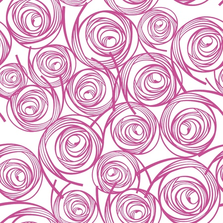 abstract lovely decorative seamless pattern illustration Illustration