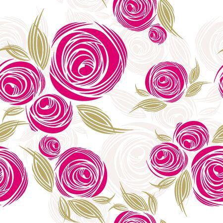 abstrakte muster: abstrakt dekorativ seamless Pattern mit Rosen-Abbildung Illustration