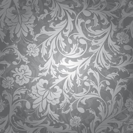 abstract retro seamless floral pattern illustration Illustration
