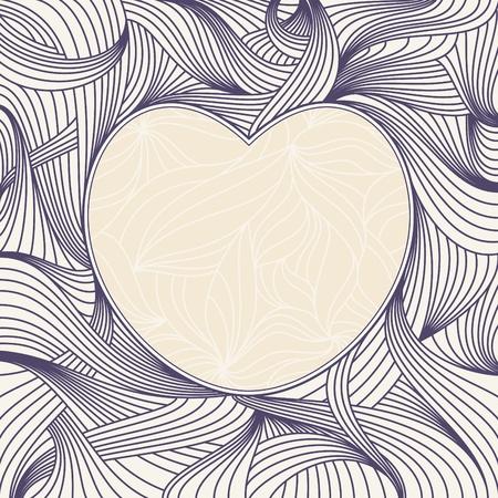 abstract lovely romantic heart frame vector illustration Illustration