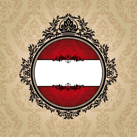 abstract royal ornate vintage frame vector illustration Stock Vector - 10099651