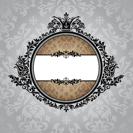 vintage frame vector: abstract royal ornate vintage frame vector illustration