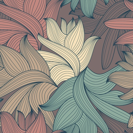 abstract lovely decorative seamless pattern vector illustration Vector