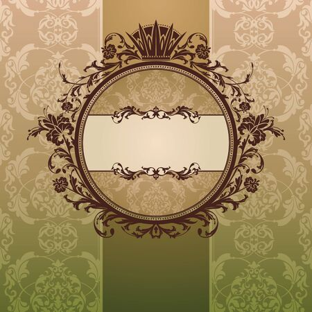abstract royal ornate vintage frame vector illustration Stock Vector - 10099658
