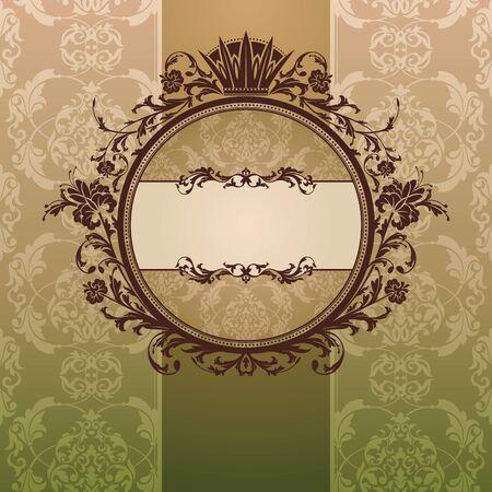 backdrop: abstract royal ornate vintage frame vector illustration