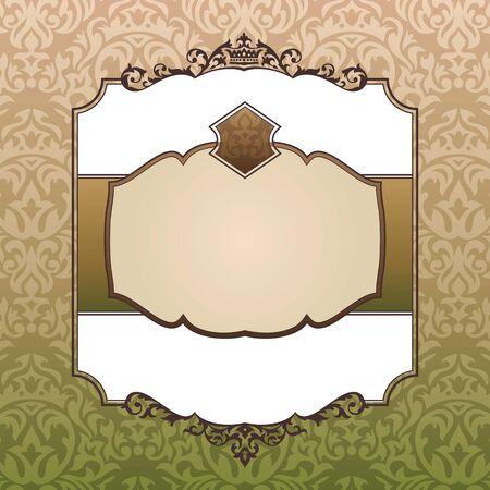 royal frame: abstract royal ornate vintage frame vector illustration