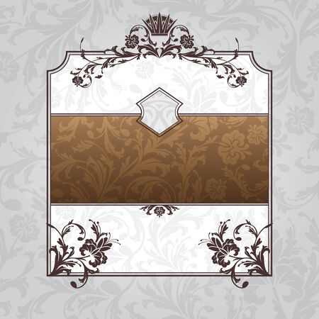 abstract royal ornate vintage frame vector illustration Vector
