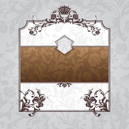 abstract royal ornate vintage frame vector illustration Vector