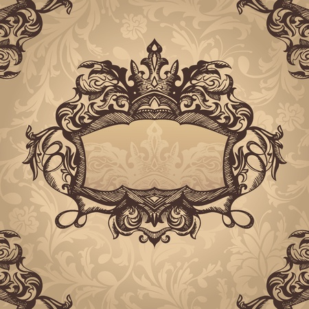 abstract royal retro vintage frame  Vector