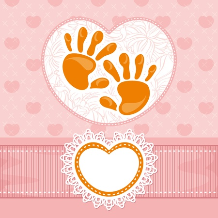 abstract lovely cute baby card  Vector