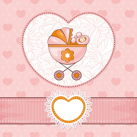 abstract lovely cute baby card vector illustration Vector