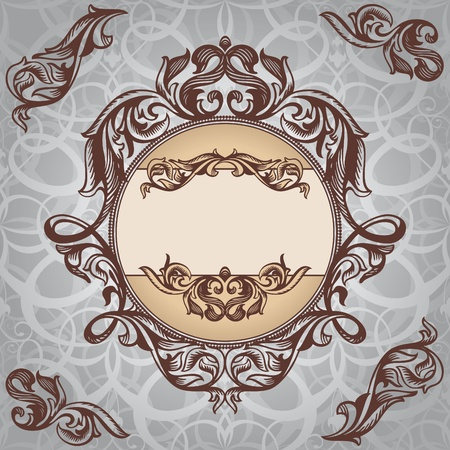 abstract retro vintage floral frame vector illustration Stock Vector - 10303520