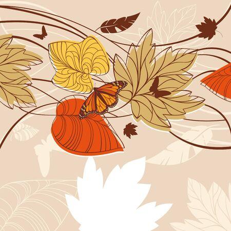 animal vein: abstract colorful lovely autumn card vector illustration