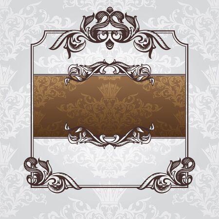 royal wedding: abstract royal ornate vintage frame vector illustration